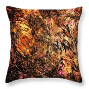 Magic Gold Throw Pillow