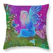Magic Is All Around Throw Pillow by The Art With A Heart By Charlotte Phillips