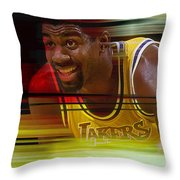 Magic Johnson Throw Pillow