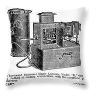 Magic Lantern, 1900 Throw Pillow