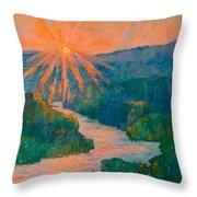 Magic Light At Carvins Cove Throw Pillow