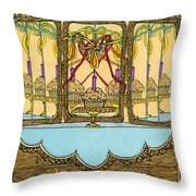 Magic Mirror - Cake  Throw Pillow