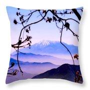 Magic Mountain Throw Pillow by Camille Lopez