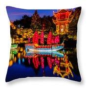 Magic Of The Lanterns Throw Pillow