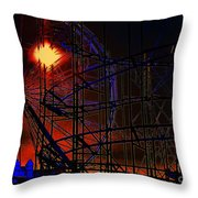 Magic Of The Midway Throw Pillow