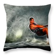 Water Skiing Magical Waters 2 Throw Pillow