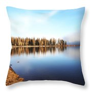Magic On Seeley Lake Throw Pillow