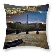 Magic Paris Throw Pillow