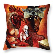 Magic Poultry Throw Pillow by Otto Rapp