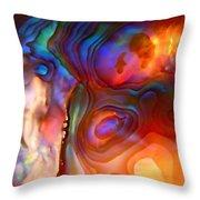 Magic Shell 2 Throw Pillow by Rona Black