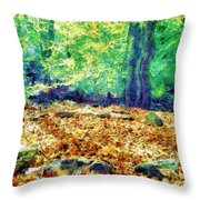 Magic Stone Circle Throw Pillow