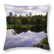 Magical 1 - Central Park - New York Throw Pillow