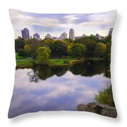 Magical 2 - Central Park - Nyc Throw Pillow