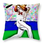 Magical Bryce Harper Connects Throw Pillow
