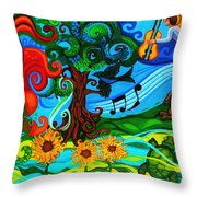 Magical Earth II Throw Pillow by Genevieve Esson