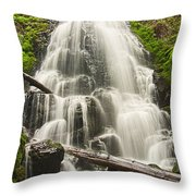 Magical Falls - Fairy Falls In The Columbia River Gorge Area Of Oregon Throw Pillow