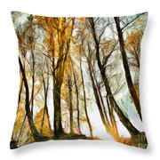 Magical Forest - Drawing Throw Pillow
