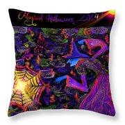 Magical Halloween 2014 V3 Throw Pillow