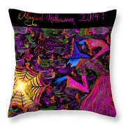 Magical Halloween 2014 V4 Throw Pillow