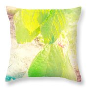 Magical Leaves Throw Pillow