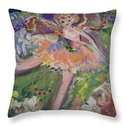 Magical Maggie The Fairy Throw Pillow