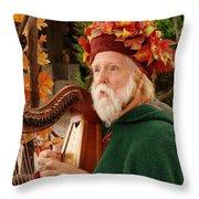Magical Minstrel Throw Pillow