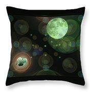 Magical Moonlight Clover Throw Pillow