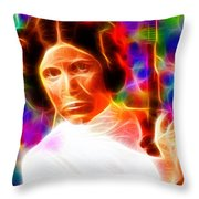 Magical Princess Leia Throw Pillow