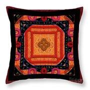 Magical Rune Mandala Throw Pillow