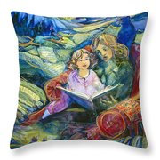 Magical Storybook Throw Pillow by Jen Norton