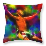 Magical Ucf Fighter Throw Pillow