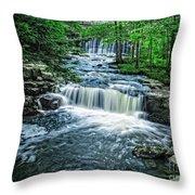 Magical Waterfall Stream Throw Pillow