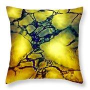 Magical Yellow Throw Pillow