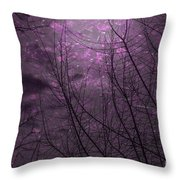 Magically Violet Night Sky Throw Pillow