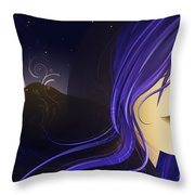 Magican Throw Pillow by Sandra Hoefer