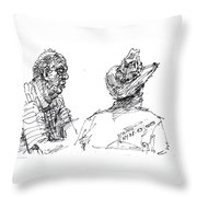 Magician And His Friend Throw Pillow