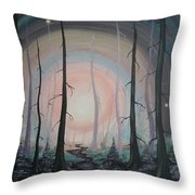 Magicle Forest Throw Pillow