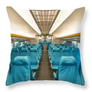 Maglev Train In Shanghai China Throw Pillow