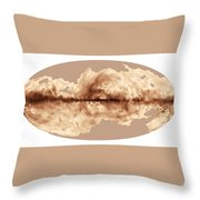 Magnetic Field Of Milky Way Galaxy Throw Pillow
