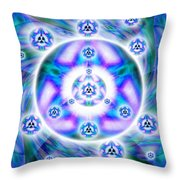Magnetic Fluid Harmony Banner Throw Pillow