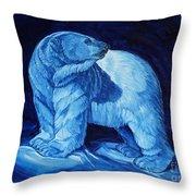 Polar Bear Art Blue Prince Lord Of The North Throw Pillow