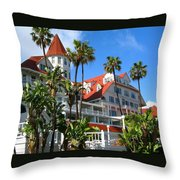 Magnificent Hotel Del Throw Pillow
