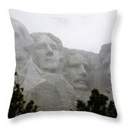 Magnificent Mount Rushmore Throw Pillow