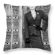 Magnificent Obsession Bw Palm Springs Throw Pillow