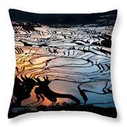 Magnificent Rice Terrace Throw Pillow