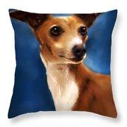 Magnifico - Italian Greyhound Throw Pillow by Michelle Wrighton