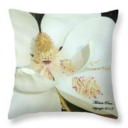 Magnolia Love Throw Pillow