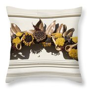Magnolia And Yarrow Swag Throw Pillow