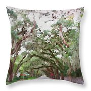 Magnolia Avenue Throw Pillow