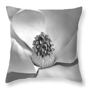 Magnolia Bw Throw Pillow